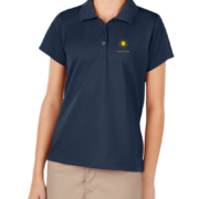 New Girls Moisture Wicking Polo – Navy Blue