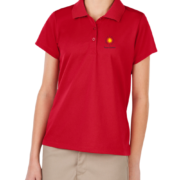 New Girls Moisture Wicking Polo – Red