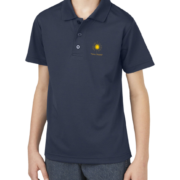 New Boys Moisture Wicking Polo – Navy Blue