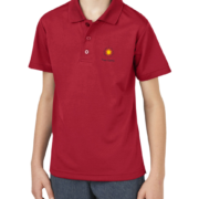 New Boys Moisture Wicking Polo – Red