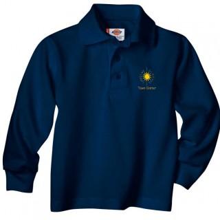 Unisex Long Sleeve Polo Large