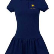 Girls Jersey Knit Polo Dress